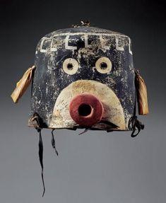 Kachina mask, c. 1900. Hopi.