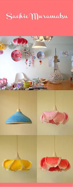 Paper lamp shades sachie muramatsu