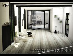Sims 4 CC's - The Best: Pivoting Doors - New Mesh by Daer0n
