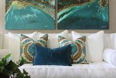San Jose - eclectic - family room - orange county - greige/Fluegge Interior Design, Inc.
