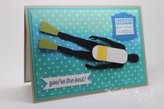 Punch Art scuba diver man using Silhouette Cameo John Paper Doll & Stampin' Up! products.  Irresistibly Yours (Sale-A-Bration 2015) DSP.  Kelly Kent - mypapercraftjourney.com.