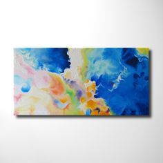 """Modern Art Abstract Painting, Original Oil Painting on Canvas, Large Wall Art Decor Painting, 40"""" X 20"""""""