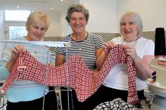 The Ladies from A' the Airts work on producing Sanquhar Pattern goods