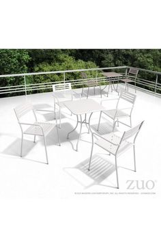 Zuo Modern Oz Dining Square Table White - 703604