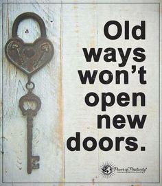 Old ways wont open