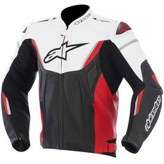 Alpinestars GP-R Leather Jacket - Black / White / Red