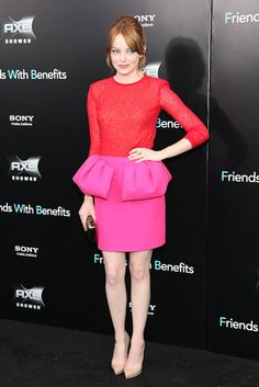 Emma Stone in Giambattista Valli at the Friends With Benefits NY Premiere 2011