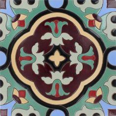 12x12 Palos Verdes Santa Barbara Hand Painted Floor Tile