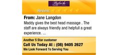 Maddy gives the best head massage . The staff are always friendly and helpfull a great...