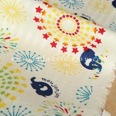 Elephant fabric. Animal cotton fabric on SALE. Sold by 0.5m at JPfabric on Etsy