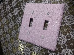 Pale Pink with Chunky Opaque White Glitter / Decorative Bling Light Switch Plates & Covers / Gifts for Her / Cute Kawaii Home Lighting Decor by VampedByVivian on Etsy