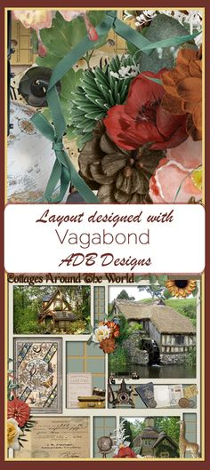 ADB Designs newest digital scrapbooking kit Vagabond was designed with men in mind to tell the stories of Exploring.  Genealogist's will find it easy to tell an entire story with elements from around the globe.