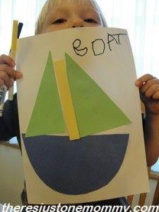 B is for Boat preschooler boat craft