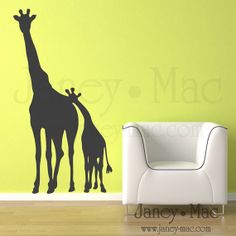Giraffe wall sticker/decal for Kids by OnionBranding on Etsy, $20.00