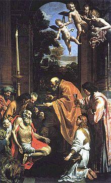 Comunione di san Girolamo (-Domenichino, Comunione di san Girolamo, 1614, Pinacoteca vaticana
