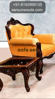 Wooden Sofa Set, Sofa Design, Architecture Details, Furnitures, Antique Furniture, Living Room Furniture, Armchair, Invitations, Interiors