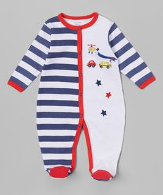 This White Helicopter Sleep 'n' Play Footie - Infant is perfect! #zulilyfinds