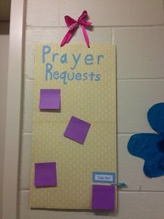 Because our hall needed a prayer request board #gettincrafty