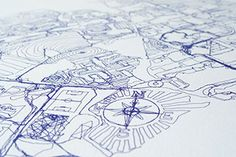 GPS Drawing by Jeremy Wood