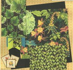 Botanical Gardens - 2 page Scrapbooking Layout Kit by CropALatteToGo on Etsy