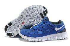 Explorer Nike Free Run 2 Homme Saphhire Bleu Blanc