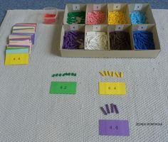 Princip násobilky – perlový materiál a karty s příklady | Pomůcky / Na rovině