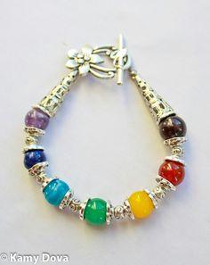 7 chakras bracelet, Spiritual jewelry, Yoga jewelry