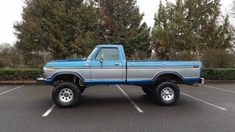 Seller of Classic Cars - 1979 Ford (Blue/Blue) 1979 Ford Truck, Old Ford Trucks, Ford 4x4, 4x4 Trucks, Custom Trucks, Custom Cars, Jeep Pickup Truck, Pickup Camper, Lifted Cars