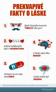 #infografiky PREKVAPIVÉ fakty o láske