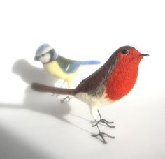 Needle felted Robin by Phillipa England