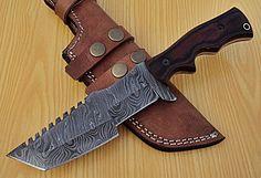 DAMASCUS CUSTOM HAND MADE BEAUTIFUL TRACKER KNIFE, G10 MICARTA HANDLE. #BestSteelWarrior