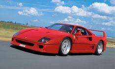 FERRARI F40 - 1987: V8-Mittelmotor, zwei Turbolader, 479 PS – der heißeste Ferrari feierte sein Debüt und begeisterte alle Der F40 war die Antwort auf den Porsche 959. Mit 324 km/h war er schneller, und mit 475.000 Mark war er damals auch