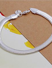 Bracelet/Chain Bracelets Sterling Silver Wedding / Party / Daily / Casual Jewelry  White,1pc Christmas Gifts – USD $ 3.89