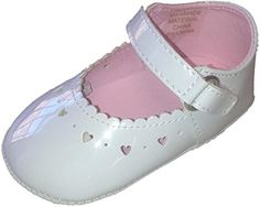 Big Oshi Baby Girls Mary Jane Baby Shoes White 1 M US Infant -- You can get additional details at the image link.