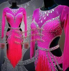 L954-Ballroom-Latin-Rhythm-Salsa-Rumba-Samba-Dance-dress-US-8-fringes