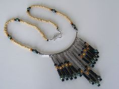 Bohemian Chic Beaded Necklace by NewClassicBohemian on Etsy, $34.00