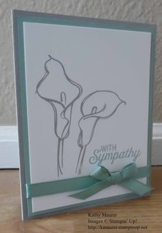 Sympathy Card made with Stampin' Up!'s Remarkable You and Flourishing Phrases Stamp Set.  For details go to my Thursday, February 23, 2017 blog at http://www.stampinup.net/blog/2130686/entry/sympathy_card