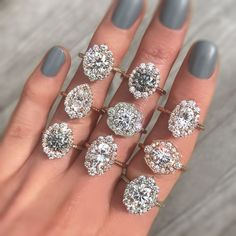 Engagement Rings : Kristin Coffin Jewelry Grey Moissanite Collection - Vintage Jewelry #vintage #mo... TrendyIdeas.net | Your number one source for daily Trending Ideas
