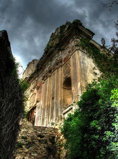 Old church Bussana Vecchia,province of imperia,  Liguria, Italy www.varaldocosmetica.it