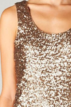 Sequin Allie Top in Gold: