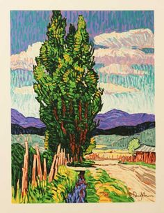 Poplars by Robert Daughters American Impressionism, Modern Impressionism, Abstract Landscape, Landscape Paintings, Landscapes, Van Gogh Art, Southwest Art, Cool Paintings, Western Art