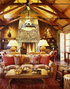 A blend of contemporary furniture with warm textiles for low-key rustic glam. An antique carpet is one of the perfect ways to bring old-world feel into your living room to add to the impression of your modern and mid-century living room designed for luxury living. #rusticlivingroom #rusticlivingroomideas #rusticmodernlivingroom