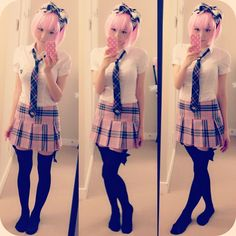 japanese girl pink outfit - Google Search