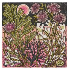 Angie Lewin is a lino print artist, wood engraver, screen printer and painter depicting the UK's natural flora in linocut and other limited edition prints. Yellena James, Angie Lewin, Yorkshire Sculpture Park, Jackson's Art, 2d Art, V & A Museum, Wood Engraving, Illustrations, Limited Edition Prints