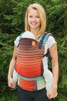 Stewed Rhubarb Con Fuoco Cayenne Weft 1 TULA BABY CARRIER