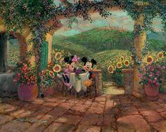 Oil painting HD Print on Canvas Art Deco,Disney Tuscan Love 12x16 inch