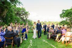 Wedding ceremony at a Magnolia Plantation wedding. Charleston wedding photographer Priscilla Thomas.