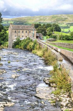 England Travel Inspiration - Gayle Mill, Wensleydale, UK Built in 1776 it has what is believed to be the world's oldest surviving water turbine still in its original situation, the mill is open to the public Yorkshire England, Yorkshire Dales, North Yorkshire, Cornwall England, England And Scotland, England Uk, Oxford England, London England, Oh The Places You'll Go