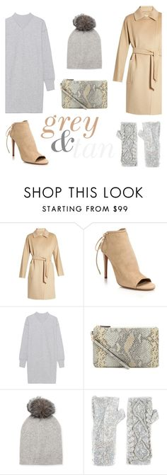 """""""grey&tan"""" by janesmiley ❤ liked on Polyvore featuring MaxMara, Aquazzura, Étoile Isabel Marant, Neiman Marcus and Filles à papa"""
