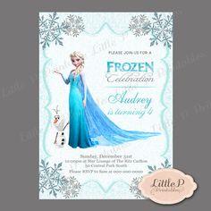 Frozen Invitation. Frozen Birthday Invitation. Frozen Party